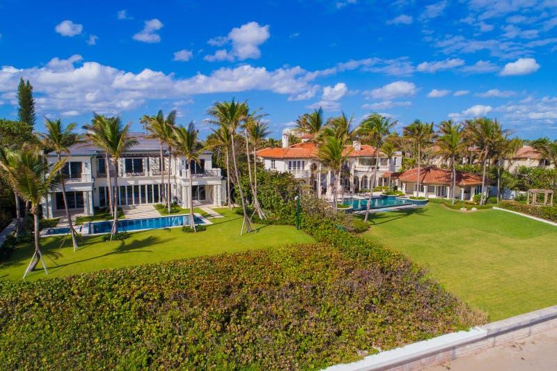 Playa de lujo Boca Raton FL de Boynton de las mansiones fotografía de archivo libre de regalías