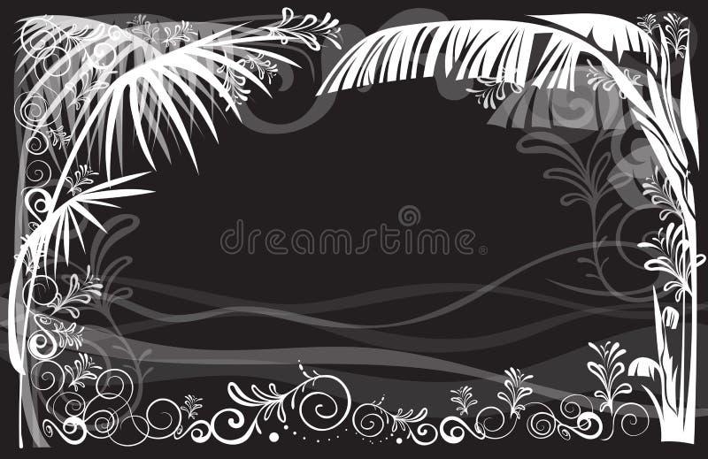 Playa de lujo del mar del arte gráfico del fondo del capítulo del diseño de la naturaleza stock de ilustración