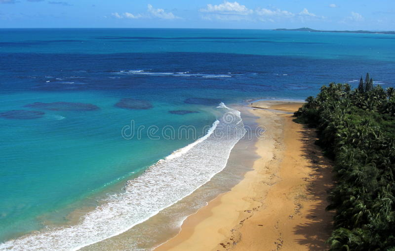 Playa de Luquillo, Puerto Rico imagen de archivo