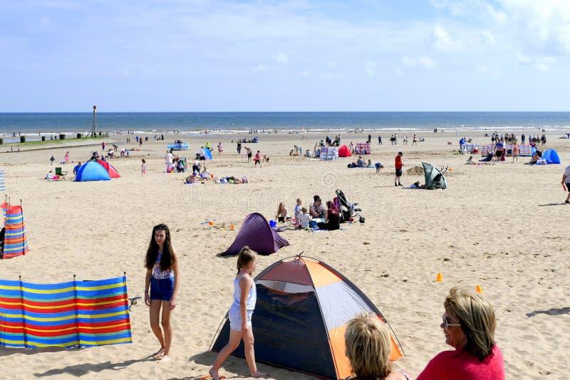 Playa de Mablethorpe fotografía de archivo
