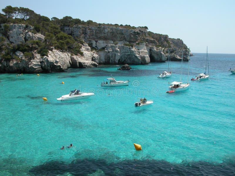 Playa De Macarella En Menorca (España) Fotografía de archivo libre de regalías