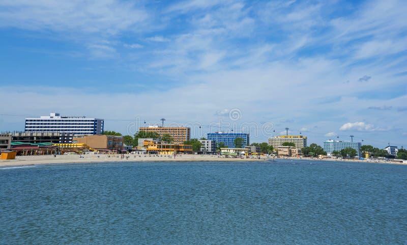 Playa de Mamaia, Rumania fotografía de archivo libre de regalías