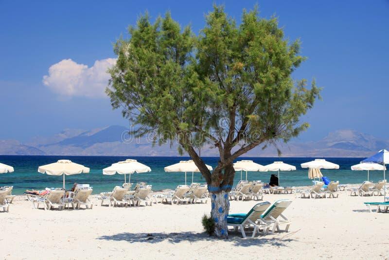 Playa de Mastichari en la isla de Kos fotografía de archivo