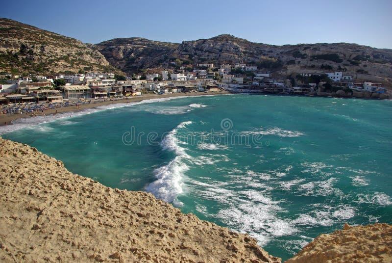 Playa de Matala fotos de archivo