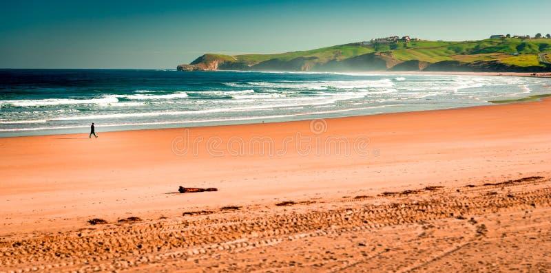 Playa de Meron San Vicente de la Barquera fotografía de archivo