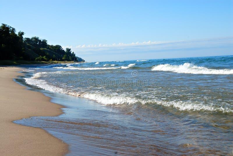 Playa de Michigan de lago fotos de archivo
