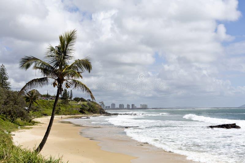 Playa de Mooloolaba en Sunny Day fotografía de archivo