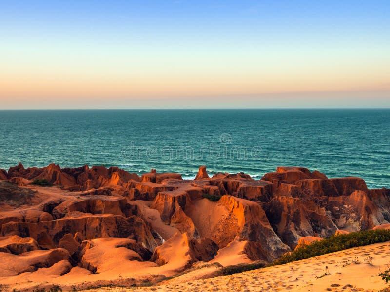 Playa de Morro Branco imagenes de archivo