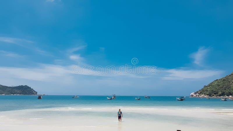 Playa de Nai Pan Yai de la correa foto de archivo