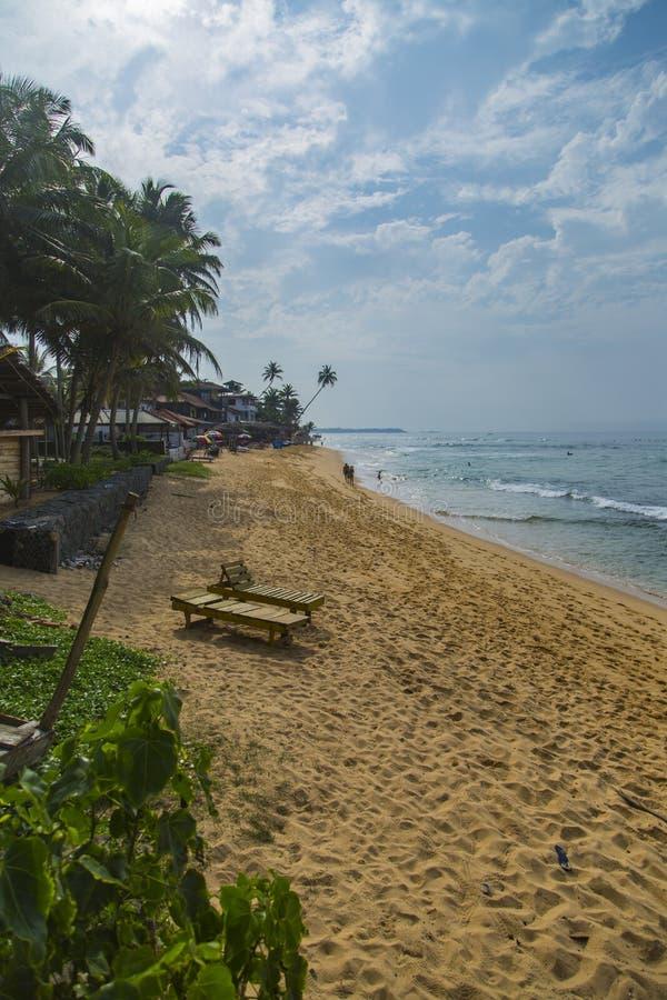 Playa de Negombo en Sri Lanka imágenes de archivo libres de regalías