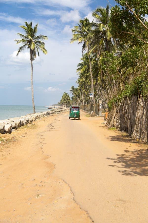 Playa de Negombo en Sri Lanka fotografía de archivo libre de regalías