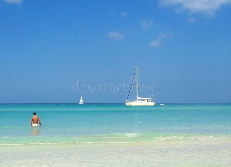Playa de Negrils fotografía de archivo