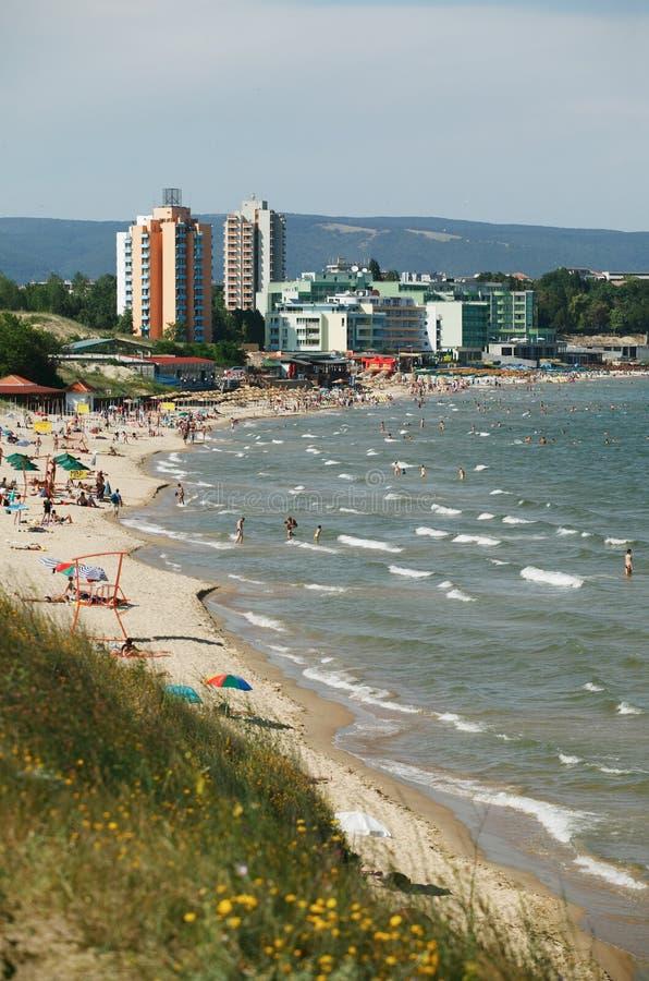Playa de Nessebar imagenes de archivo