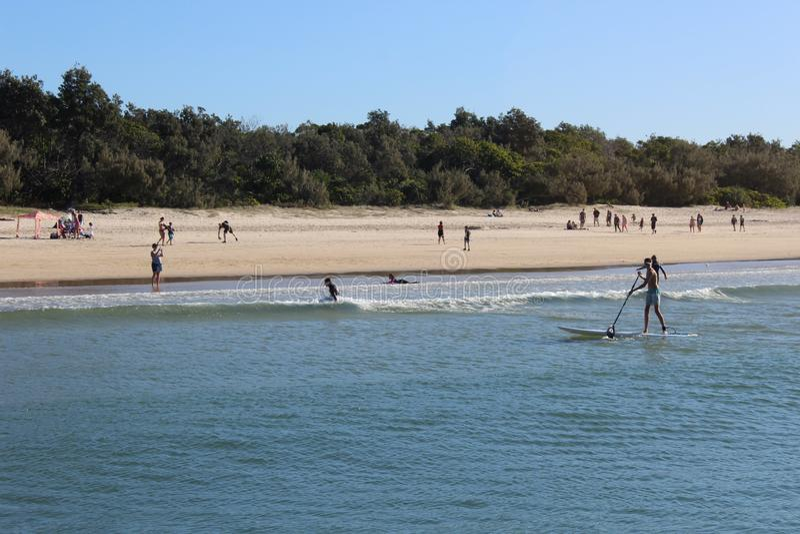 Playa de Noosa imagen de archivo libre de regalías