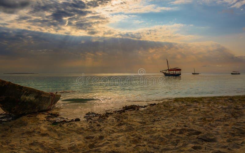 Playa de Nungwi foto de archivo