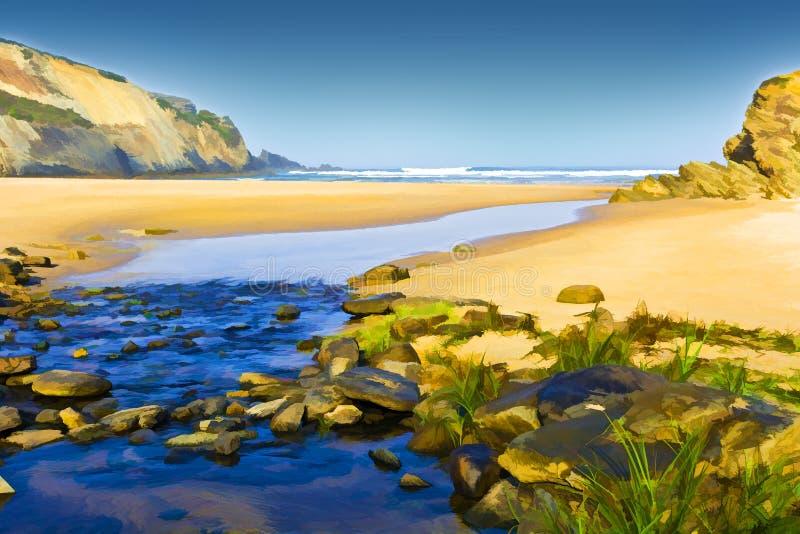 Playa de Océano Atlántico libre illustration