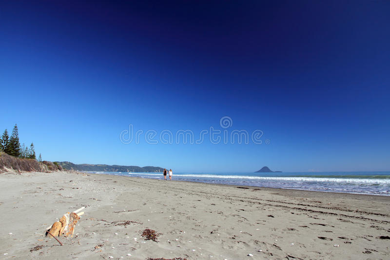 Playa de Ohope, Whakatane, Nueva Zelandia foto de archivo