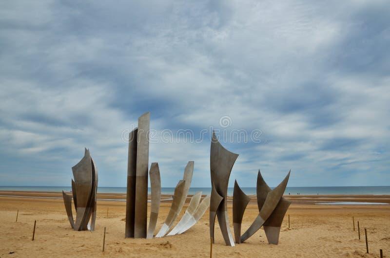 Playa de Omaha, Normandía imagen de archivo