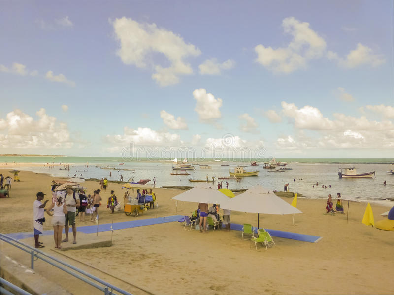 Playa de Oporto Galinhas foto de archivo