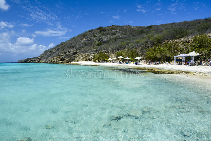 Playa de Oporto Marie en Curaçao, el Caribe holandés fotografía de archivo libre de regalías