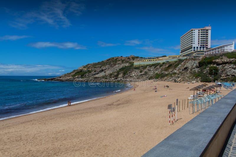 Playa de Oporto Novo en Lourinha, Portugal fotos de archivo libres de regalías