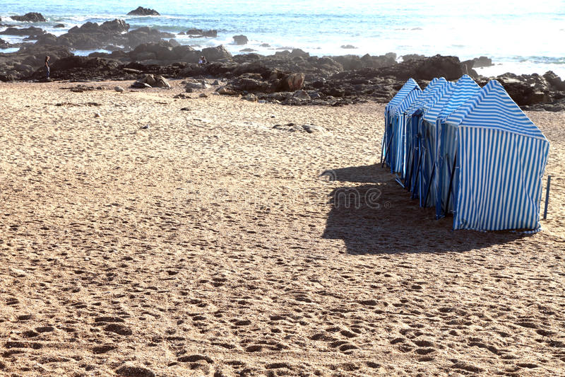 Playa de Oporto, punto de Gondarem, Portugal foto de archivo