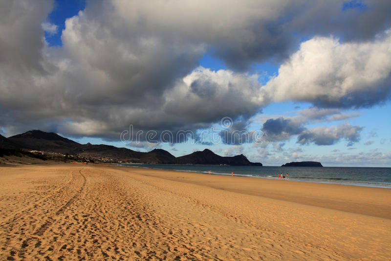 Playa de Oporto Santo imagen de archivo libre de regalías
