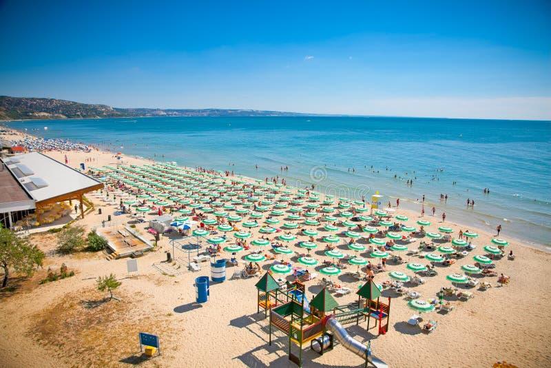 Playa de oro de las arenas, Bulgaria. imagenes de archivo