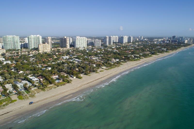Playa de oro FL de la imagen aérea imagen de archivo