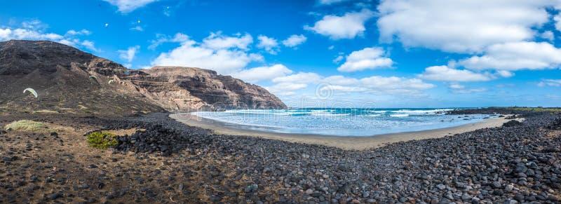 Playa de Orzola παραλία, Lanzarote, Κανάρια νησιά, Ισπανία στοκ φωτογραφίες με δικαίωμα ελεύθερης χρήσης