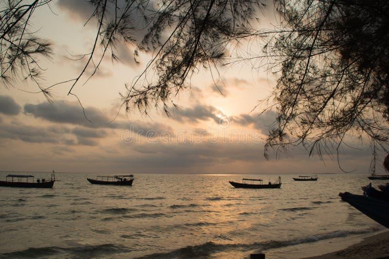 Playa de Otres, Sihanoukville, Camboya imagen de archivo libre de regalías