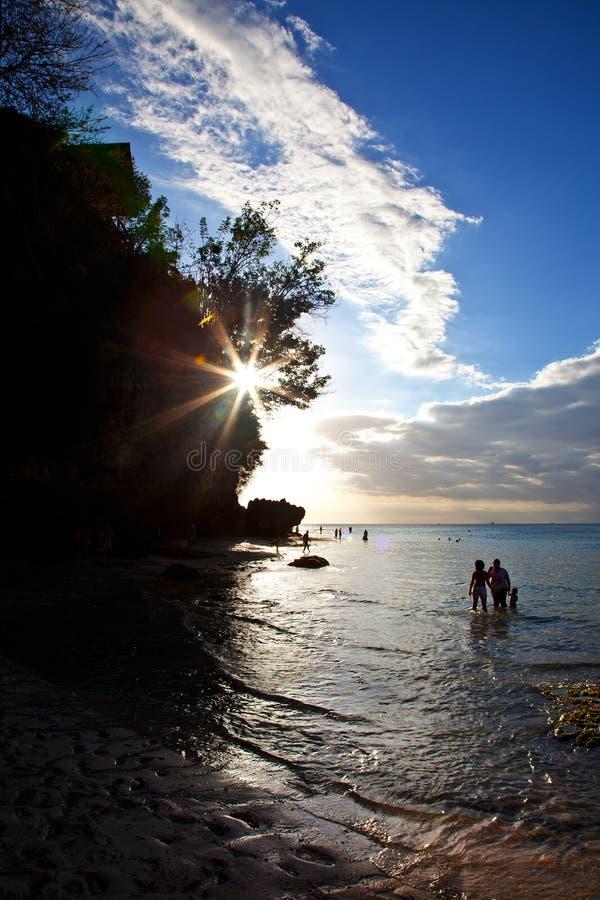 Playa de Padang Padang - Bali fotos de archivo libres de regalías