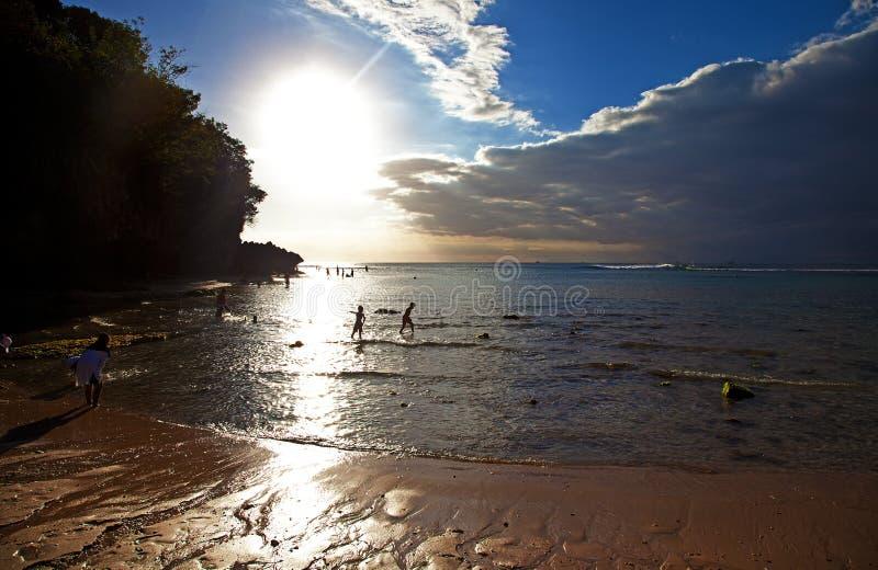 Playa de Padang Padang - Bali foto de archivo libre de regalías