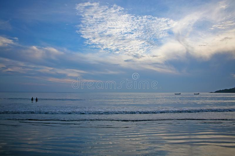 Playa de Palolem en última hora de la tarde fotos de archivo libres de regalías
