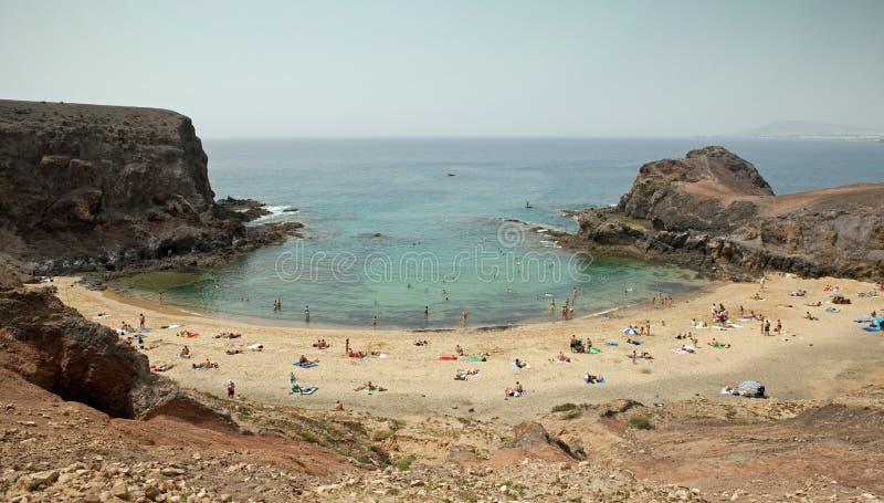 Playa DE Papagayo, Lanzarote royalty-vrije stock fotografie