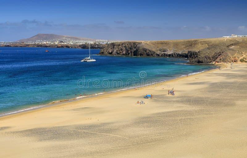 Playa DE Papagayo in Lanzarote stock fotografie