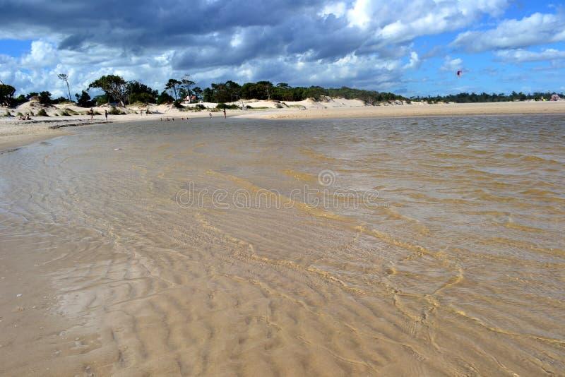 Playa de Parque del Plata, Canelones 免版税库存图片