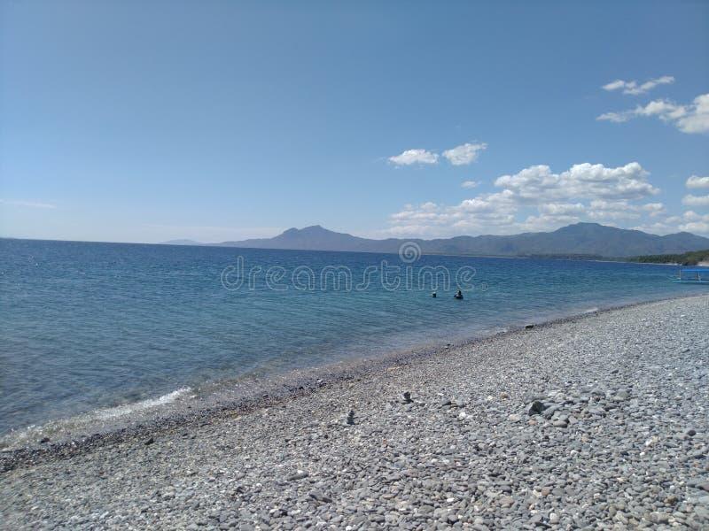Playa de Pebbled imagen de archivo libre de regalías