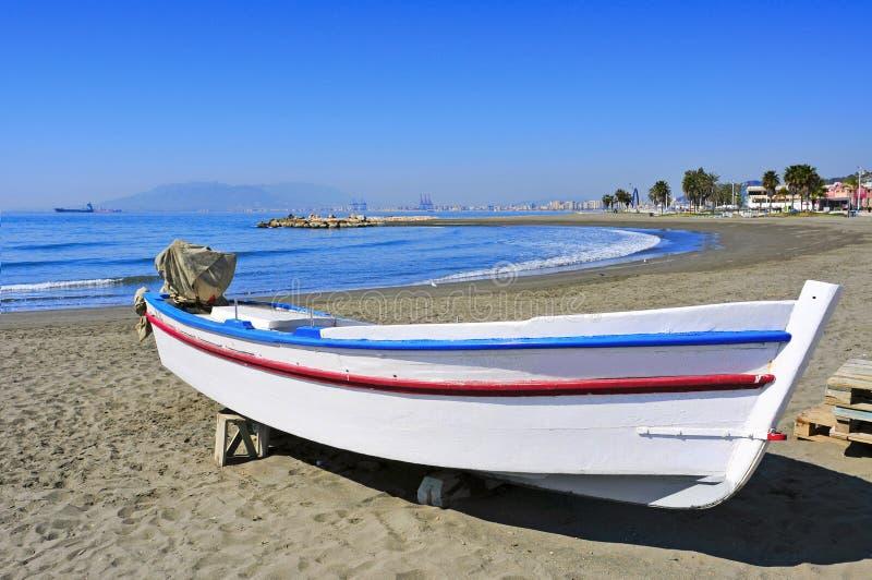 Playa de Pedregalejo en Málaga, España fotos de archivo