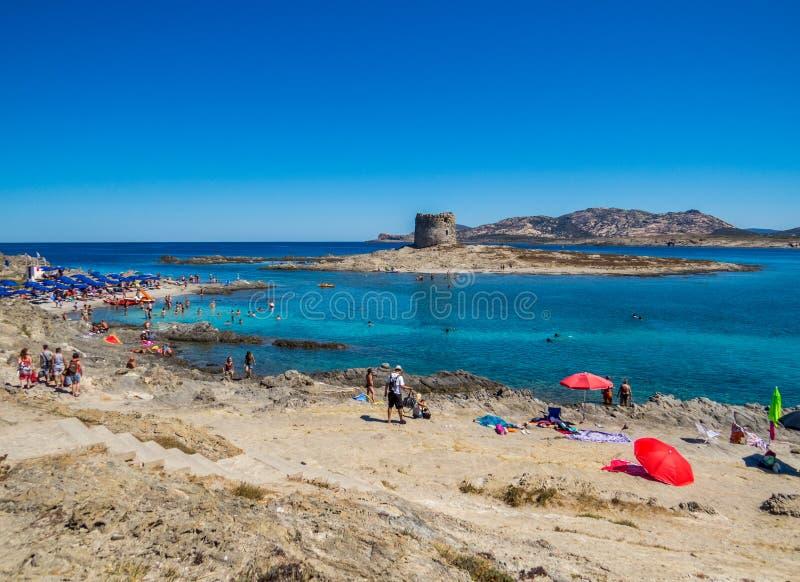 Playa de Pelosa del La, Stintino, Italia imágenes de archivo libres de regalías