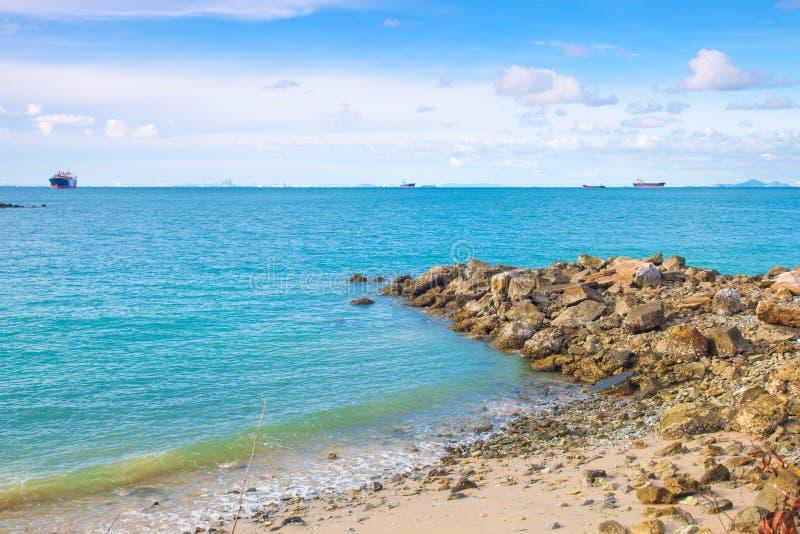 Playa de piedra grande. fotos de archivo libres de regalías