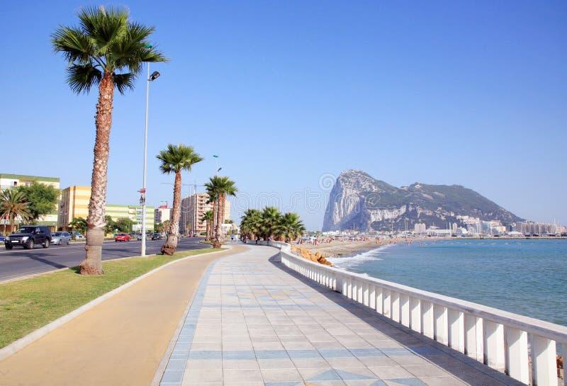 Playa de Poniente, La Linea de la Concepcion royalty free stock photography