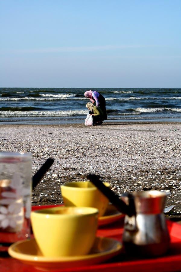 Playa de Port Said foto de archivo libre de regalías