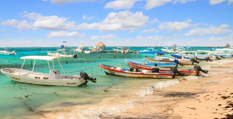 Playa de Puerto Morelos imagen de archivo libre de regalías