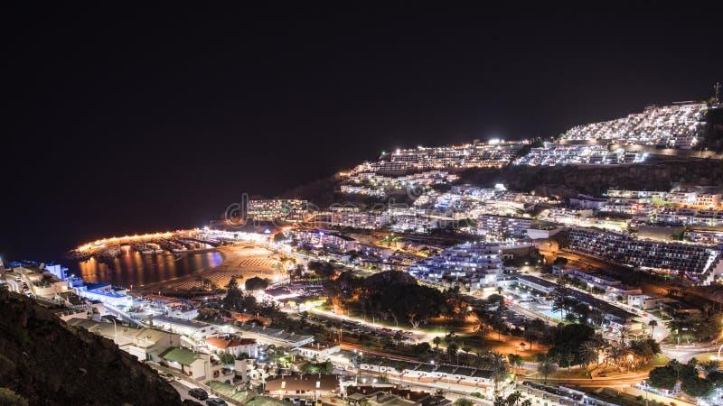 Playa de Puerto Rico, isla de Gran Canaria, España fotografía de archivo libre de regalías