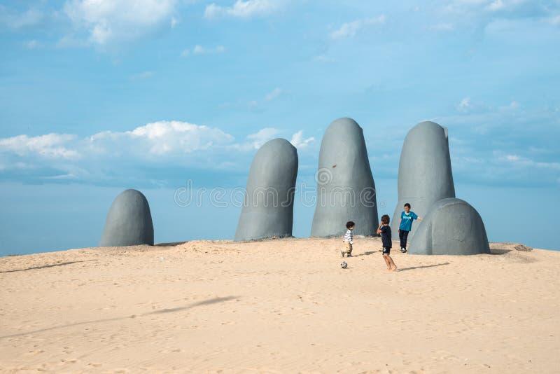 Playa de Punta del Este en Uruguay, costa atlántica imágenes de archivo libres de regalías