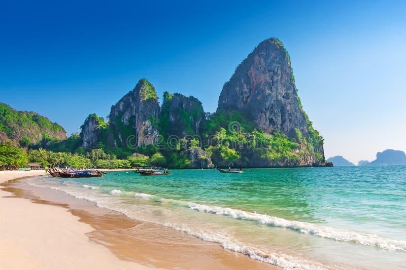 Playa de Railay en Krabi Tailandia fotos de archivo