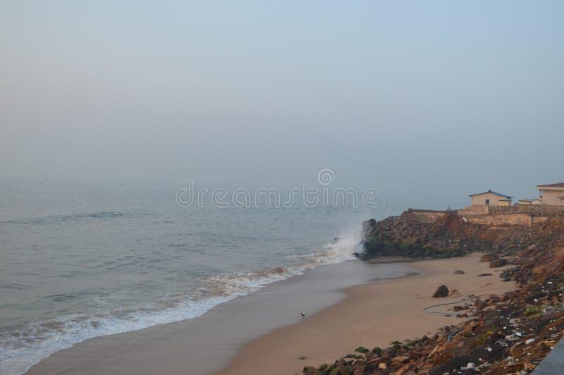 Playa de Rama Krishna, Vizag, la India foto de archivo libre de regalías