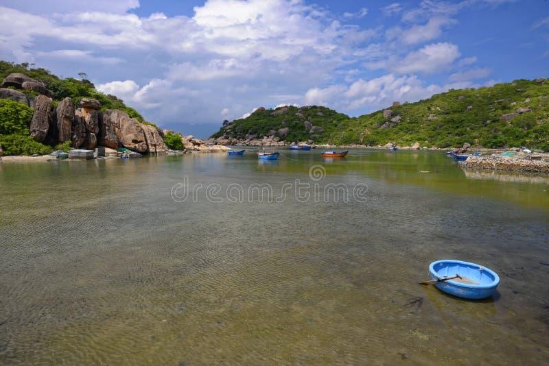 Playa de Ranh de la leva, Khanh Hoa, Vietnam - 9 de octubre de 2016 imagen de archivo