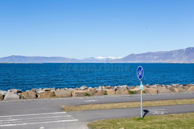 Playa de Reykjavik imagen de archivo